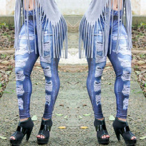 Legging Fake Jeans Fitness Academia Lipsoulgirls Original