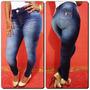Calça Jeans Legging Deerf- Levanta Bumbum- Cintura Média