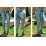Calça Feminina Jeans Com Moleton Cintura Alta Moletom Roupas