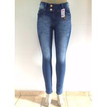 Calça Jeans Skinny Cintura Alta Feminina W. Pink Jeans
