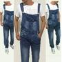 Macacão Importado Masculino Jeans Lançamento Moda Homens