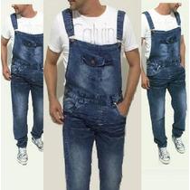 Macacão Leve Jeans Masculino Vintage Reforçado Estilo Europa
