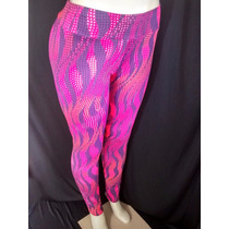 Calça Legging Estampada Plus Size Suplex Fitness