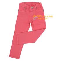 Calça Jeans Infanto Juvenil Girls Skinny Rosa - Tassa 14609