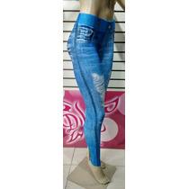 Calça Legging Imita Jeans - Frete Gratis