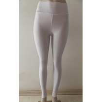 Calça Feminina Legging Em Lycra Branca Lisa