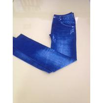 Legging Imita Jeans Roupa De Malhar