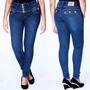 Calça Sawary Jeans Feminina Azul Strech Levanta Bumbum