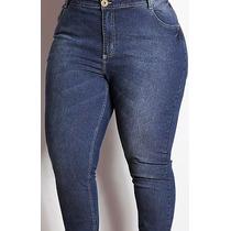 Calça Jeans 50 Lycra Plus Size Feminina Movix Extra Grande
