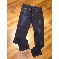 Calça Jeans Skinny Com Rasgados Original Moda Masculina