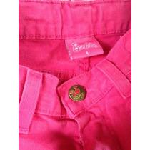 Calças Jeans Em Cor Rosa Barbie Tam 4 Anos Sem Defeitos