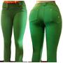 Calça Legging Coton 6 Cores Bolsos E Passante Grats Calcinha