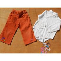 Kit Calça Infantil Gymboree Blusa Importada Menina 2 Anos