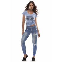 Legging Jeans- Rola Moça
