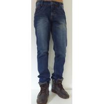 Calça Jeans Masculina Com Bigode
