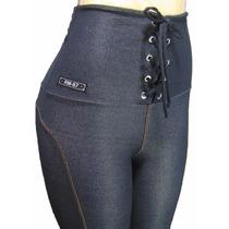 Calça Legging Feminina Malha Jeans Cintura Alta Novidade