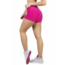 Shorts Fitness Em Tecido Bolha Varias Cores Academia