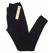 Calça Feminina Legging Sarja Preta Plus Size Do 44 Ao 60