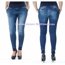 Calça Sawary Jeans Moleton Elástico Tamanho 34 Ao 42