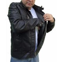 Jaqueta Masculina Corte Italiano Em Couro Ecológico Linda