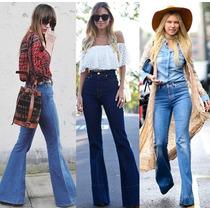 Lote De Calça Jeans Flare Feminina 10 Peças Tamanhos Variado