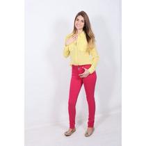Kit 3 Calças Coloridas Skinny Cintura Média Promoção