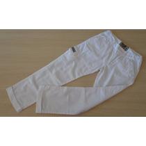 Calça Tigor T Tigre Com Bolso Branco