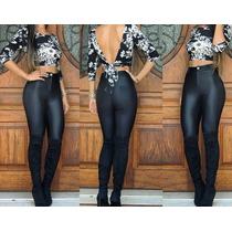 Linda Calça Pants Disco Juju Panicat Cintura Alta Legging