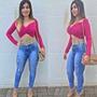 Calça Hot Pants Modeladora Clara Devasê Destroyed Rasgadinha