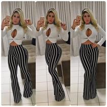 Calça Diva Fler Listrada @ Enviamos Em 7 Dias