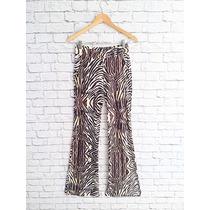 Calça Reta, Pantalona, E De Cintura Alta, Animal Print, Onça