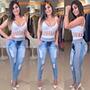 Kit 5 Calças Jeans Moletom Feminina