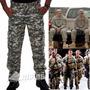 Calça Camuflada Cargo Masculina Tatica Militar Ripstop Deser