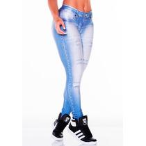 Calça Legging Jeans Lipsoulgirls - Fitness - Modelo Novo