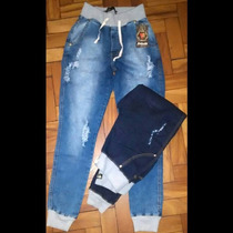 Calça Jeans Moleton Cós E Punho, Hot Pants Destroyed