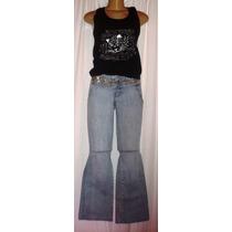 Calça Jeans Feminina Bivik N.38 C/ Strech + Blusinha A-1