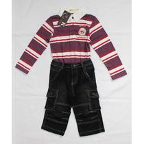Conjunto Infantil Calçajens Camisa Mangas Comprida Importado