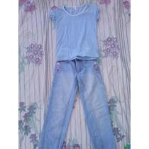 Calça Azul Clara Tam8 Anos Marisa 64x74x73
