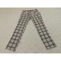 Calça Jeans Feminina Stretch Quadriculada - Tam 44 (nova)