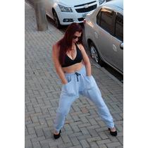 Calça Moleton Feminina Saruel Skinny Oferta Sedex Grátis