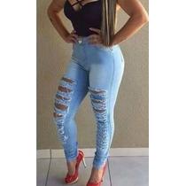 Calça Jeans Feminina Customizada Panicats