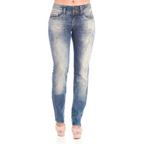 Calça Jeans Azul Claro 38 Slim Fit Denúncia Frete Grátis