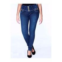 Calça Jeans Feminina Cos Alto Sawary Original Strech Pitbul