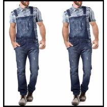Macacão Jardineira Masculina Jeans Skinny Promoção