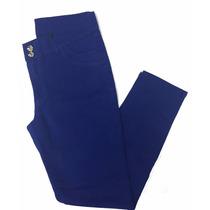 Calça Feminina Azul Sarja C/ Elastano Plus Size 48 52 54 56