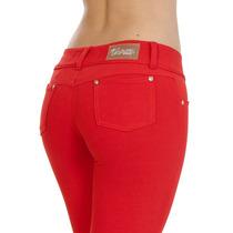 Calças Jeans Vermelhas Azul Moletinho Sawary Flare Skinny $