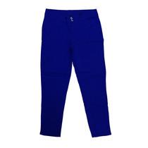 Calça Feminina Sarja Lycra Azul Royal 48 50 52 54 56 58 60