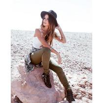 Calça Jeans Feminina Cintura Alta Cos Alto Hot Pants