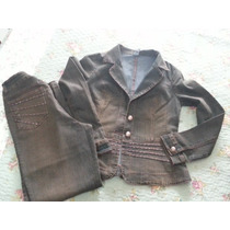 Conjunto Jeans Feminino,,lindo Com Detalhes