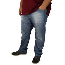 Calça Jeans Masculina Lycra Caution Plus Size Nº 54 56 58